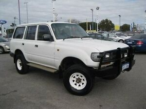 1991 Toyota Landcruiser FJ80R Standard White 5 Speed Manual Wagon Maddington Gosnells Area Preview