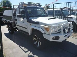 2010 Toyota Landcruiser VDJ79R MY10 Workmate White 5 Speed Manual Cab Chassis Fawkner Moreland Area Preview