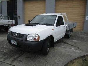 2008 Nissan Navara D22 MY2008 DX White 5 Speed Manual Cab Chassis Moorabbin Kingston Area Preview