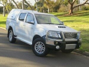 2012 Toyota Hilux KUN26R MY12 SR5 Double Cab White 5 Speed Manual Utility Christies Beach Morphett Vale Area Preview