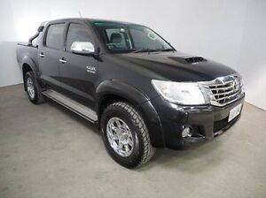 2013 Toyota Hilux KUN26R MY12 SR5 Double Cab Black 4 Speed Automatic Utility Mount Gambier Grant Area Preview