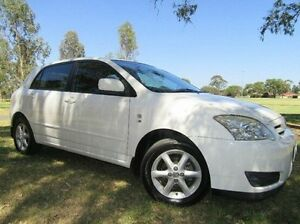 2004 Toyota Corolla ZZE122R 5Y Ascent Sport White 4 Speed Automatic Hatchback Doveton Casey Area Preview