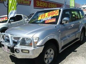 2004 Mitsubishi Pajero NP MY04 Exceed Silver 5 Speed Sports Automatic Wagon Underwood Logan Area Preview
