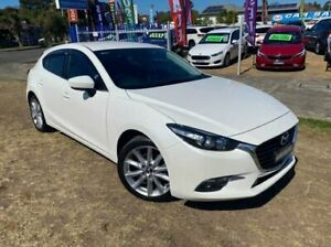 2017 Mazda 3 BN MY17 SP25 White 6 Speed Automatic Hatchback Dapto Wollongong Area Preview