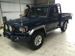 2006 Toyota Landcruiser Blue Manual Cab Chassis Morwell Latrobe Valley Preview