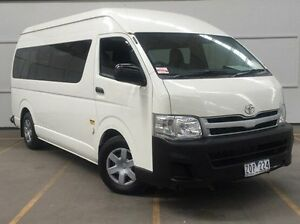 2012 Toyota Hiace KDH223R MY12 Commuter High Roof Super LWB White 4 Speed Automatic Bus Brooklyn Brimbank Area Preview