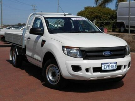 2012 Ford Ranger PX XL 4x2 White 6 Speed Manual Cab Chassis Spearwood Cockburn Area Preview