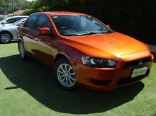 2011 Mitsubishi Lancer CJ MY11 SX Orange 6 Speed Constant Variable Sedan Paradise Campbelltown Area Preview