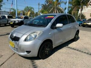2006 Toyota Yaris NCP90R YR Silver 4 Speed Automatic Hatchback Lansvale Liverpool Area Preview