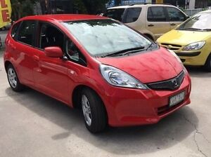 2012 Honda Jazz GE MY12 VTi Red 5 Speed Automatic Hatchback Southbank Melbourne City Preview