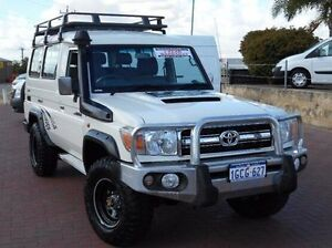 2014 Toyota Landcruiser VDJ78R MY13 GXL Troopcarrier White 5 Speed Manual Wagon Spearwood Cockburn Area Preview
