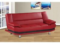 MILAN LEATHER SOFA BED ONLY £199