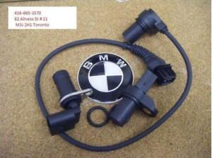 BMW Intake & Exhaust Camshaft Position Sensor CPS with O-ring  & Crankshaft Position Sensor( One year warranty )