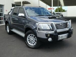 2013 Toyota Hilux KUN26R MY14 SR5 Double Cab Grey 5 Speed Automatic Utility Green Fields Salisbury Area Preview
