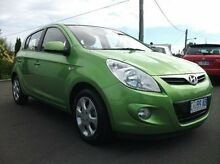 2011 Hyundai i20 PB MY11 Elite Green 5 Speed Manual Hatchback Invermay Launceston Area Preview