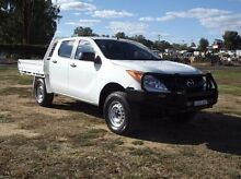2013 Mazda BT-50 UP0YF1 XT White 6 Speed Manual Cab Chassis Dubbo 2830 Dubbo Area Preview