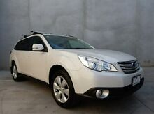 2009 Subaru Outback B5A MY10 2.5i Lineartronic AWD White 6 Speed Constant Variable Wagon Braeside Kingston Area Preview