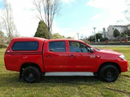 2010 Toyota Hilux KUN26R MY10 SR Velocity Red 4 Speed Automatic Utility Derwent Park Glenorchy Area Preview
