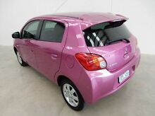 2014 Mitsubishi Mirage LA MY14 Sport Purple 1 Speed Constant Variable Hatchback Braeside Kingston Area Preview