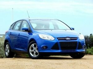 2014 Ford Focus LW MKII Trend PwrShift Blue 6 Speed Sports Automatic Dual Clutch Hatchback Christies Beach Morphett Vale Area Preview