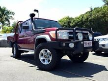 2012 Toyota Landcruiser VDJ79R MY13 GXL Double Cab Red 5 Speed Manual Cab Chassis Mackay 4740 Mackay City Preview