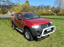 2007 Mitsubishi Triton ML MY08 GLX Double Cab Purple 5 Speed Manual Utility Derwent Park Glenorchy Area Preview