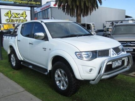 2011 Mitsubishi Triton  White Auto Seq Sportshift Utility Seaford Frankston Area Preview