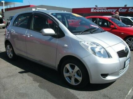 2008 Toyota Yaris NCP91R MY09 YRS Silver 5 Speed Manual Hatchback Invermay Launceston Area Preview