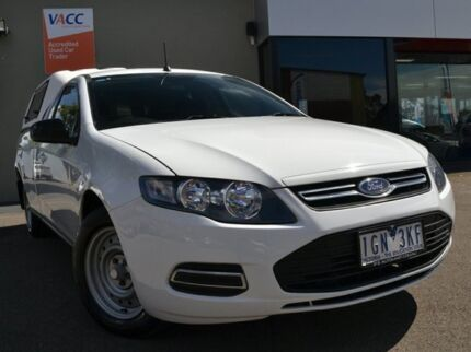 2013 Ford Falcon FG MkII EcoLPi Super Cab White 6 Speed Sports Automatic Cab Chassis Fawkner Moreland Area Preview