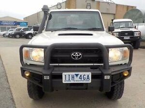 2011 Toyota Landcruiser White Manual Cab Chassis Pakenham Cardinia Area Preview