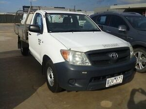 2006 Toyota Hilux TGN16R Workmate Glacier White 5 Speed Manual Cab Chassis Melton Melton Area Preview