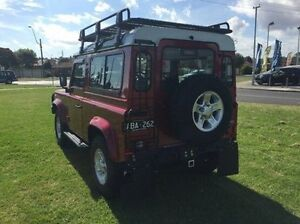 2013 Land Rover Defender 90 13MY Red 6 Speed Manual Wagon Morwell Latrobe Valley Preview