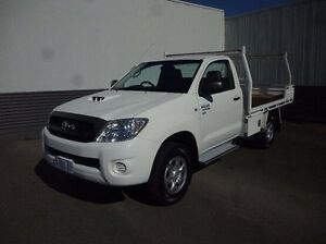 2009 Toyota Hilux KUN26R MY09 SR White 5 Speed Manual Cab Chassis Devonport Devonport Area Preview