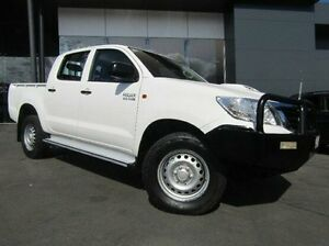 2014 Toyota Hilux KUN26R MY14 SR Double Cab White 5 Speed Manual Utility Earlville Cairns City Preview