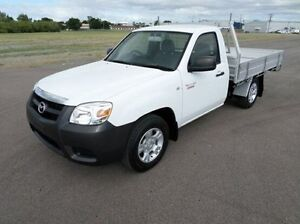 2011 Mazda BT-50 UP0YD1 XT 4x2 White 6 Speed Manual Cab Chassis Hyde Park Townsville City Preview