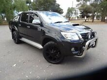 2013 Toyota Hilux KUN26R MY12 SR5 Double Cab Black 4 Speed Automatic Utility Elizabeth Playford Area Preview