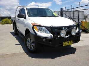 2012 Mazda BT-50 UP0YF1 XT Freestyle 4x2 Hi-Rider White 6 Speed Manual Cab Chassis Singleton Singleton Area Preview