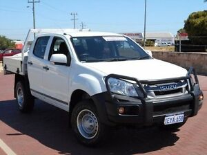 2012 Isuzu D-MAX MY12 SX Crew Cab White 5 Speed Sports Automatic Cab Chassis Spearwood Cockburn Area Preview