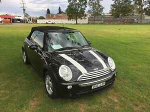 2008 Mini Cabrio R52 MY05 Cooper Black 6 Speed Constant Variable Convertible East Kempsey Kempsey Area Preview