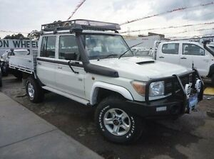 2013 Toyota Landcruiser White Manual Cab Chassis Fawkner Moreland Area Preview