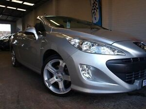 2011 Peugeot 308 T7 CC S Silver 6 Speed Sports Automatic Convertible Highett Bayside Area Preview