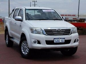 2012 Toyota Hilux GGN25R MY12 SR5 Double Cab White 5 Speed Automatic Utility Spearwood Cockburn Area Preview