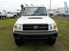 2010 Toyota Landcruiser  White Manual Cab Chassis Pakenham Cardinia Area Preview
