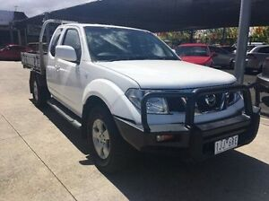 2011 Nissan Navara D40 S6 MY12 RX King Cab White 5 Speed Automatic Cab Chassis Maidstone Maribyrnong Area Preview