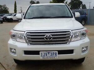 2013 Toyota Landcruiser WAGON SAHARA 4.5L T DIESEL AUTOMATIC Crystal Pearl Automatic Wagon Melton Melton Area Preview