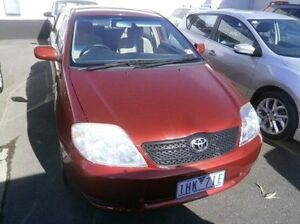 2003 Toyota Corolla ZZE122R Conquest Red 4 Speed Automatic Sedan Blackburn Whitehorse Area Preview
