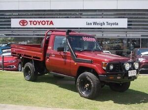 2004 Toyota Landcruiser HDJ79R Red 5 Speed Manual Cab Chassis Rockhampton Rockhampton City Preview