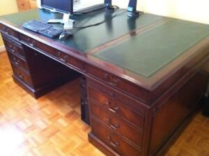 Antique Double Sided Lawyers Desk