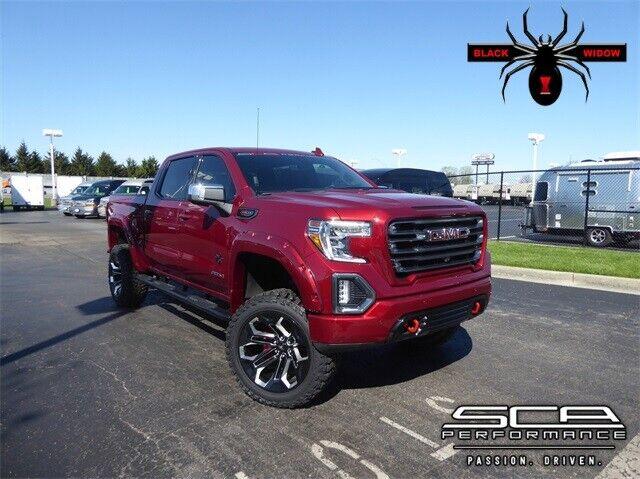 2020 gmc sierra 1500 at4 black widow lifted truck 33 miles