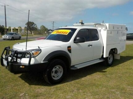 2010 Ford Ranger PK XL Super Cab White 5 Speed Manual Cab Chassis Pakenham Cardinia Area Preview